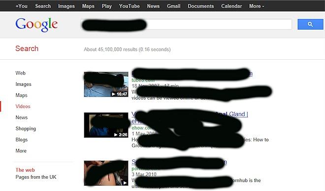 google uk adult content