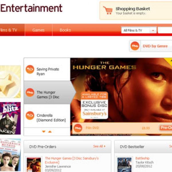 sainsburys entertainment film and tv