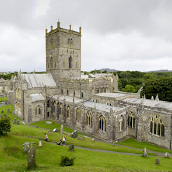 st davids cathedral wales uk