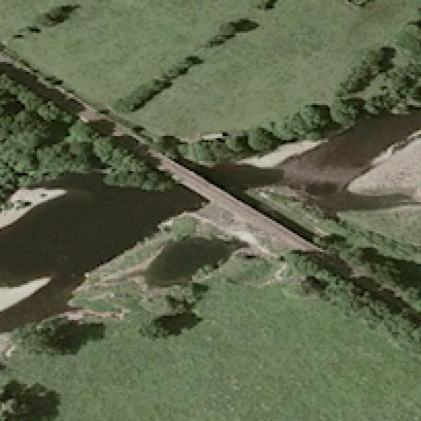 arkholme uk railway bridge on river lune