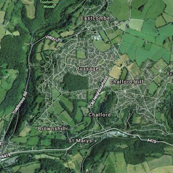 chalford and bussage uk map