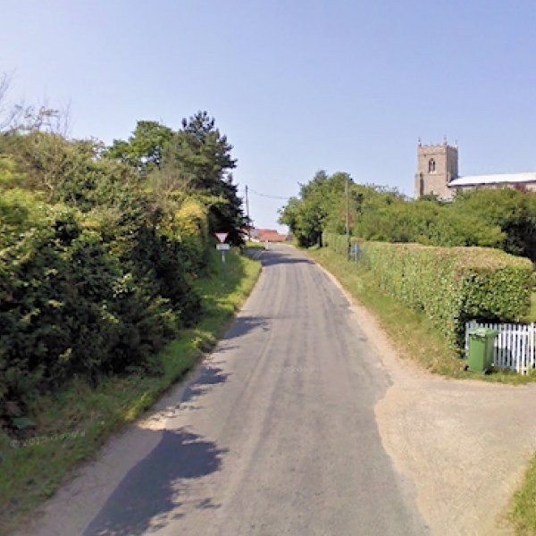 wiveton_norfolk_uk_village_road