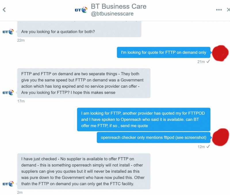 bt business care twitter fttpod