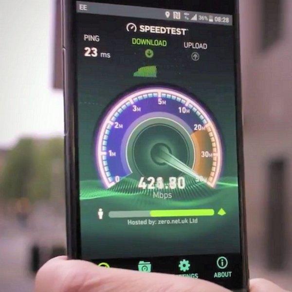 EE 4g+ 400mbps+ speedtest uk