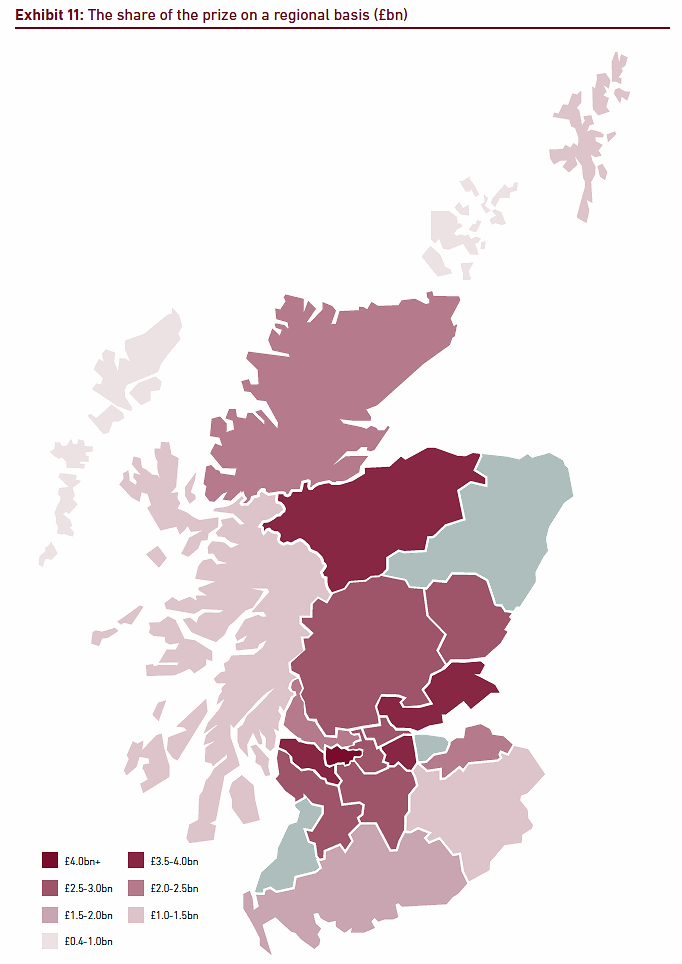 scotland 2024 economic boost map