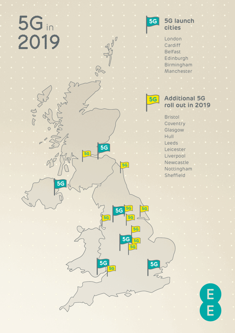 ee 5g rollout plan uk 2019