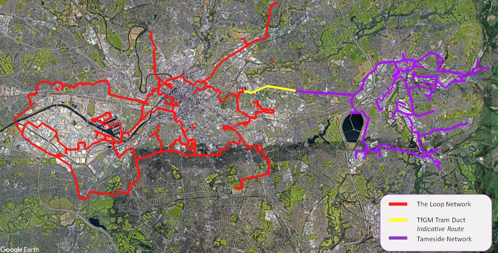 the loop manchester fibre optic tameside extension map