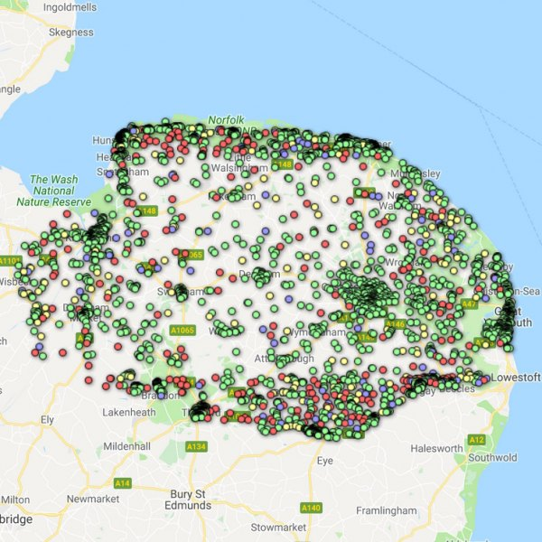 norfolk uk broadband map