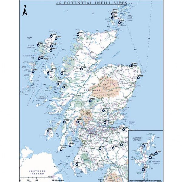 scotland uk 4g mobile infill locations