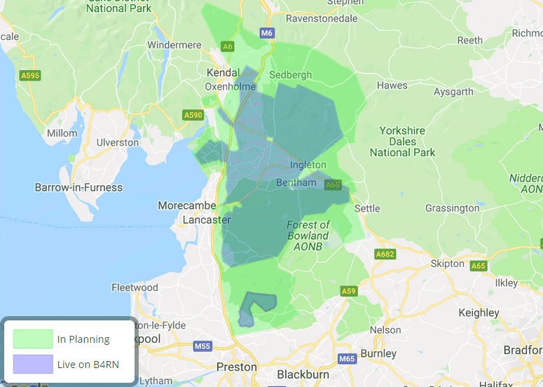 b4rn north west coverage map 2019 jan