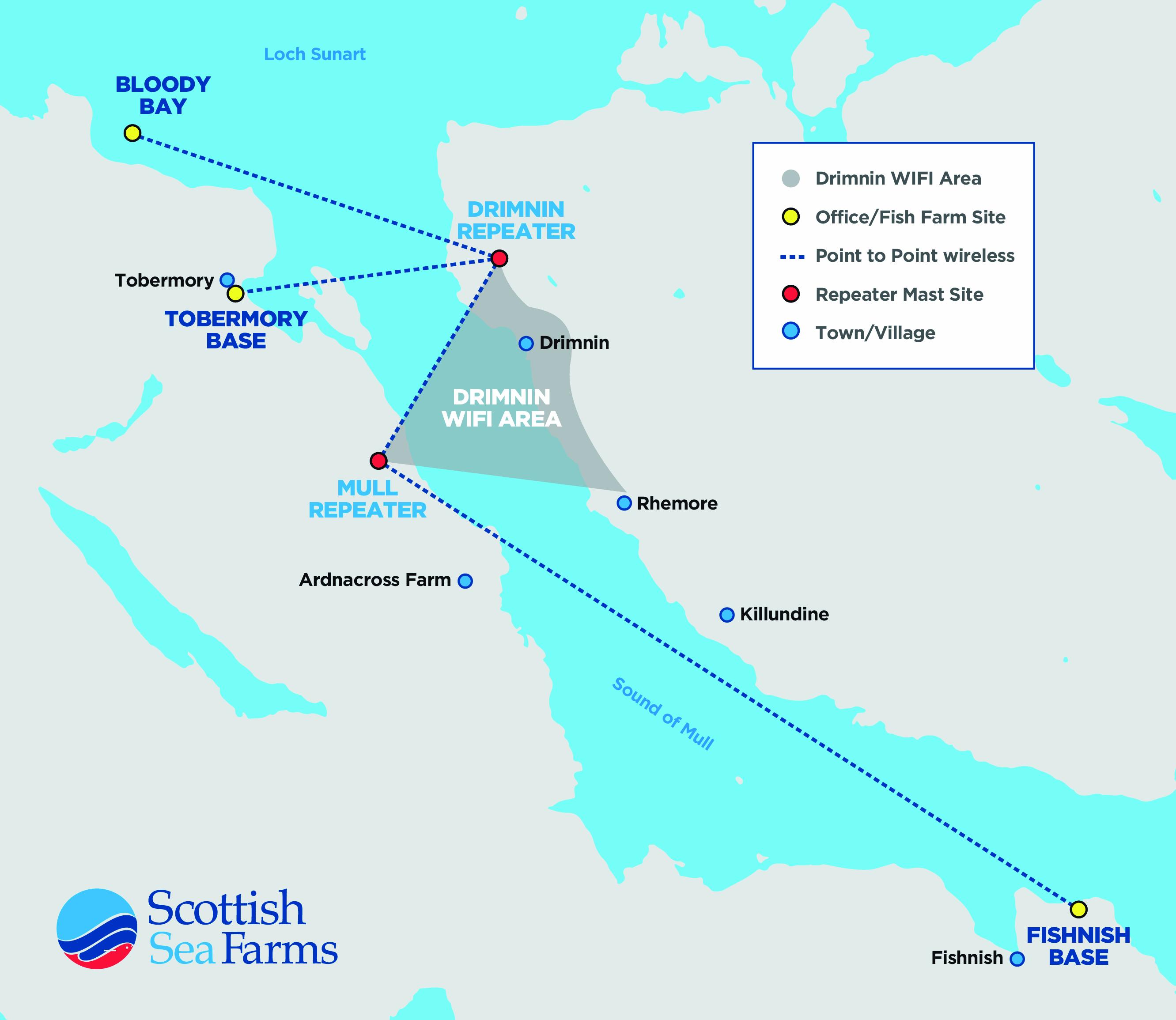 drimnin broadband network map
