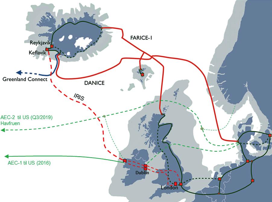 iris undersea fibre optic cable link