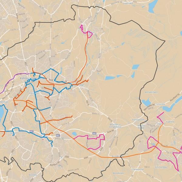 tameside digital infrastructure cooperative fibre optic map uk