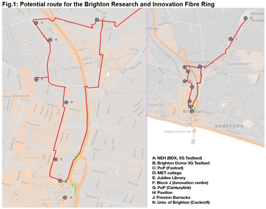 brighton and hove fibre optic ring network map