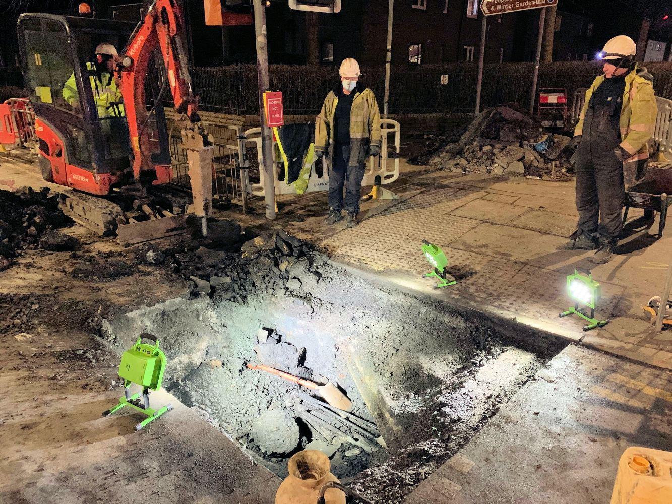 Glasgow-Bridgeton-openreach-power-cable-explosion