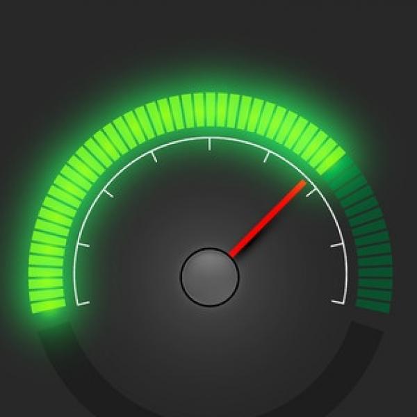 broadband internet speed speedometer