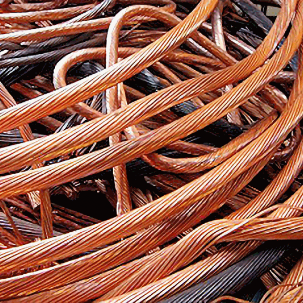 copper cable pile