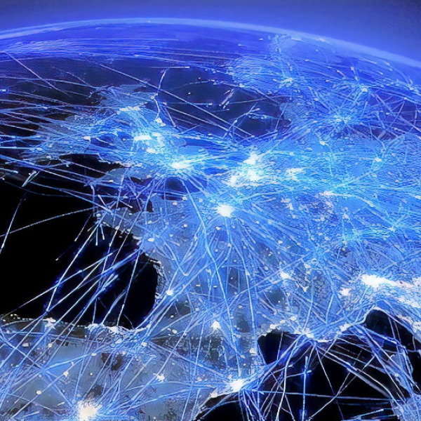 europes lines of broadband fibre optic laser light