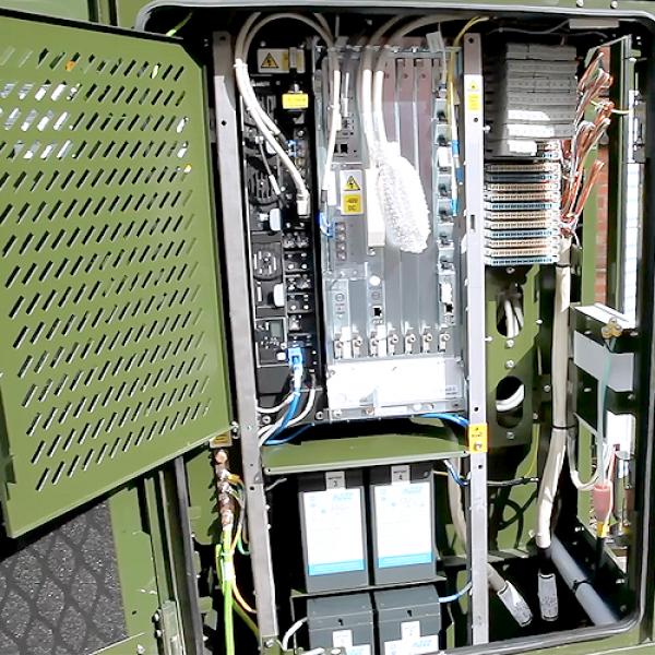 inside a uk bt fttc broadband street cabinet
