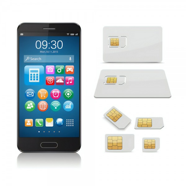 mobile smartphone and uk sim card sizes