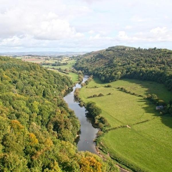 rural broadband and river scene