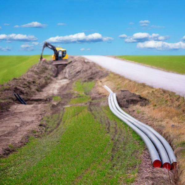 rural broadband trenching dig road