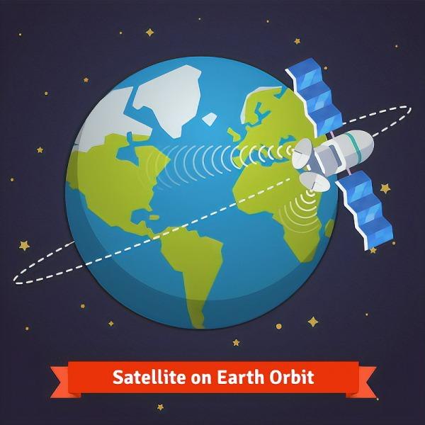 satellite in earth orbit