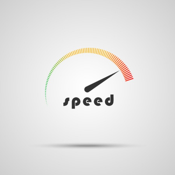 speed broadband meter on grey background uk