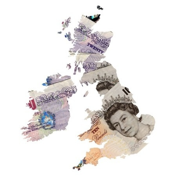 united kingdom money map