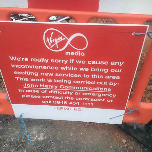 virgin media streetworks