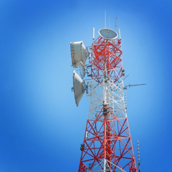 wireless microwave radio tower