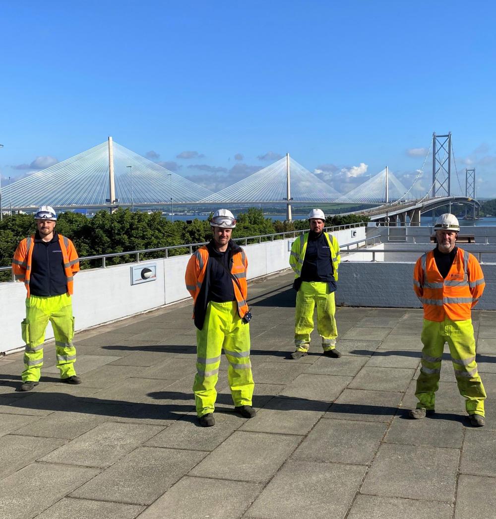 Openreach-Engineers-Near-Forth-Road-Bridge-Scotland