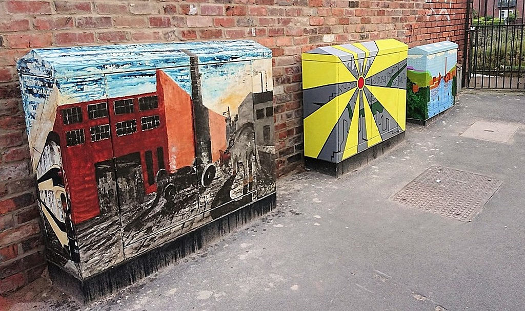sheffield canvas covered street cabinets