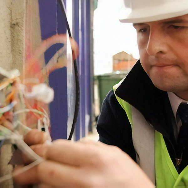 BT engineer at work