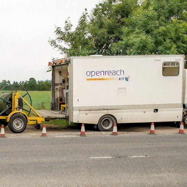 bt openreach big van