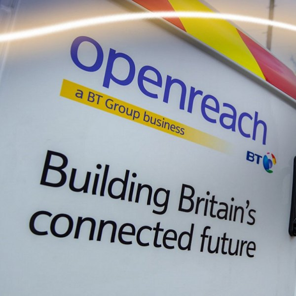 building britains connected future openreach van