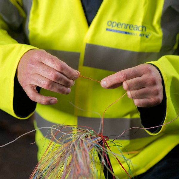 cable damage openreach engineer