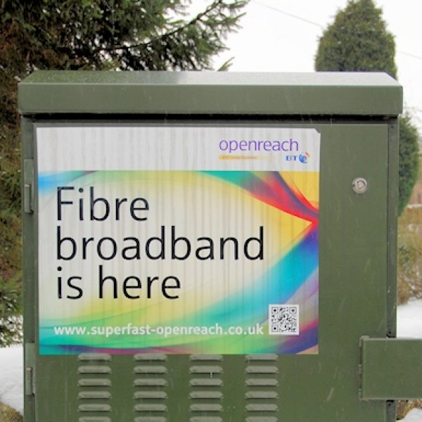 fibre broadband is here cabinet