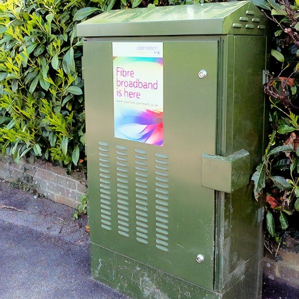 fibre broadband is here high bt street cabinet