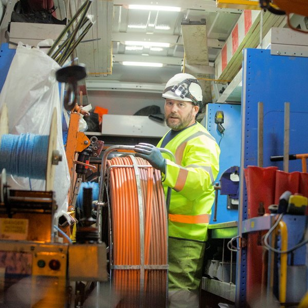 fibre optic cable deployment bt openreach