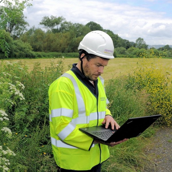 openreach engineer in rural england uk