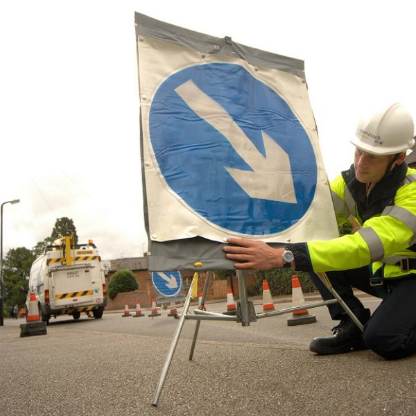 road diversion openreach work
