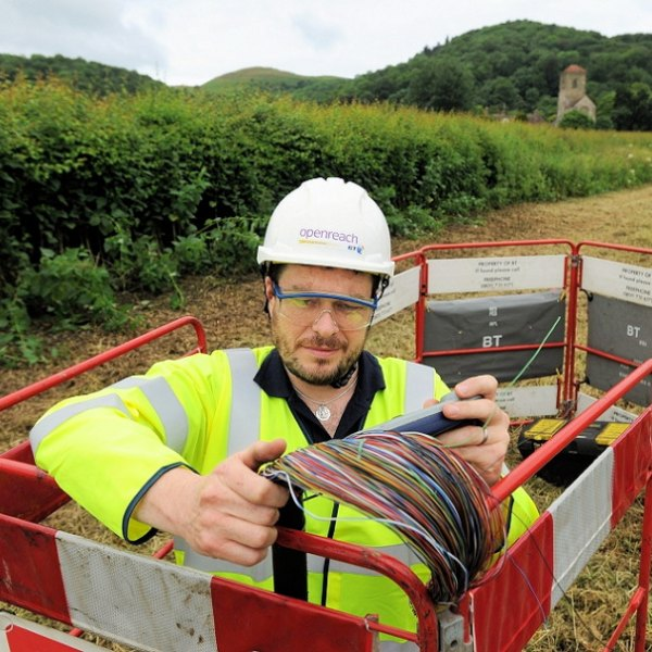 rural openreach bt engineer