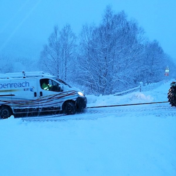 snow openreach van tow