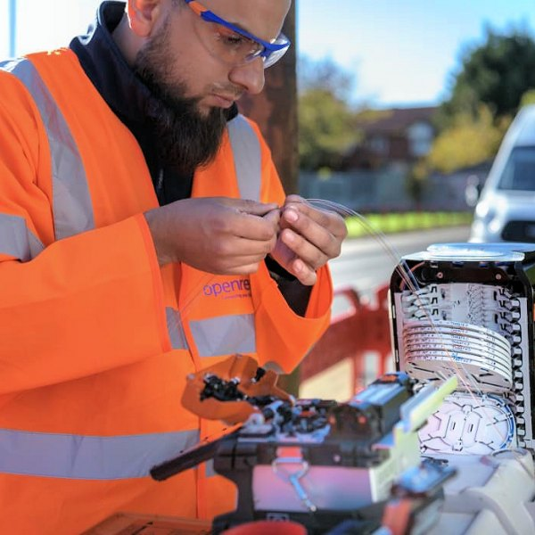 splicing fibre optic openreach