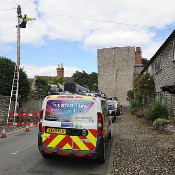 telegraph pole rural broadband openreach engineer