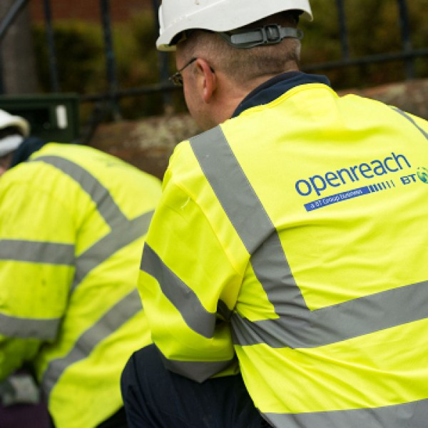 two openreach engineers working