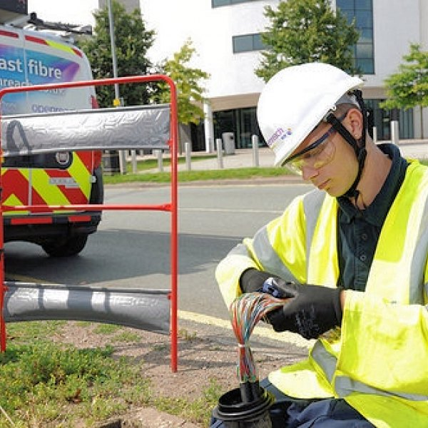 young openreach bt fibre optic engineer