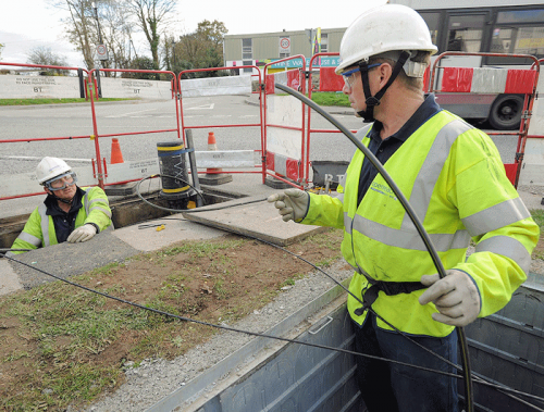 bt openreach fibre optic cable install