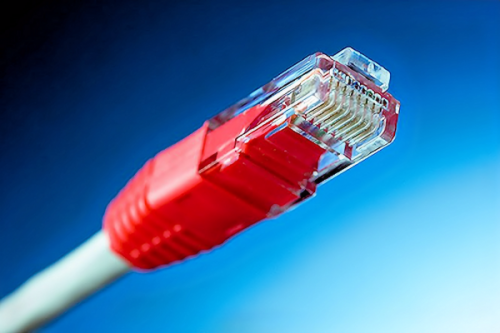network cable connector red